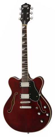 Eastwood Airline Classic 6 HB Semi Hollow Guitar Dark Cherry