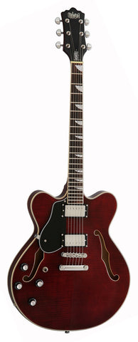 Eastwood Airline Left Handed Classic 6 HB Semi Hollow Guitar Walnut
