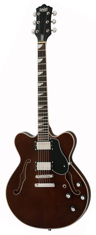 Eastwood Airline Classic 6 HB Semi Hollow Guitar Walnut