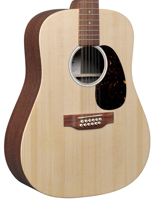 Martin D-X2E 12-String Mahogany Acoustic Electric Guitar With Bag