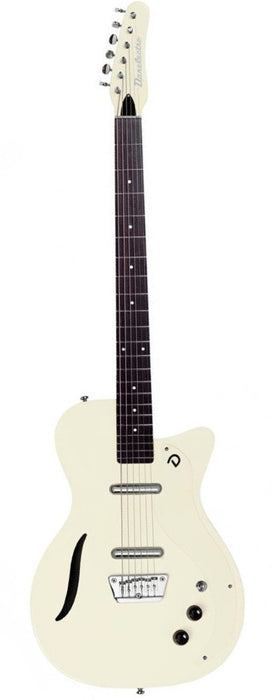 Danelectro Baritone Electric Guitar Vintage White Dolphin Headstock