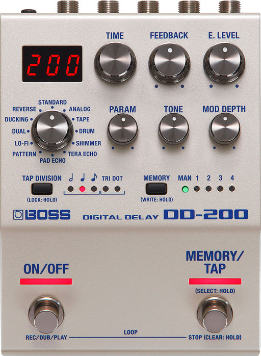 Boss DD-200 Digital Delay Guitar Effect Pedal
