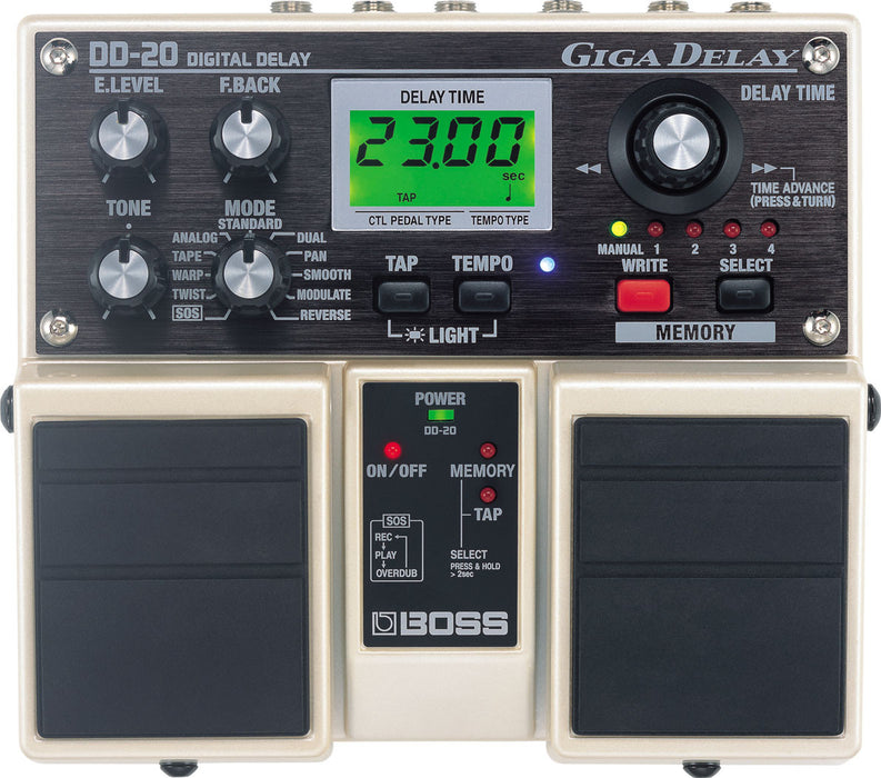 Boss DD-20 Giga Delay Digital Delay Guitar Effect Pedal