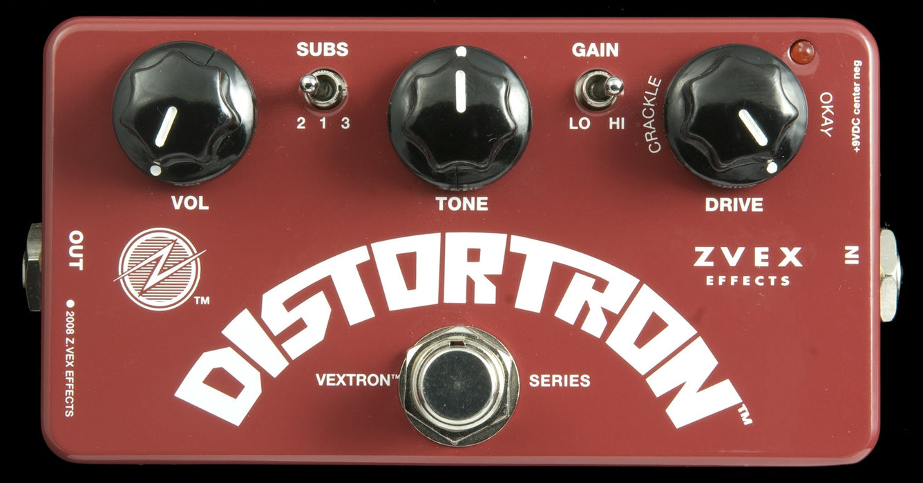 Zvex Distortron Distortion Guitar Pedal