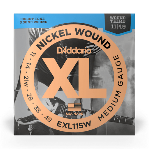 D'Addario EXL115W Set Guitar XL Blues/ Jazz Wound 3rd Strings