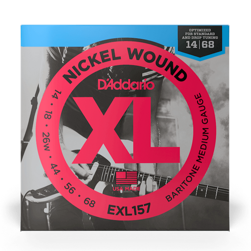 D'Addario EXL157 Set Electric Baritone Guitar XL Medium Strings