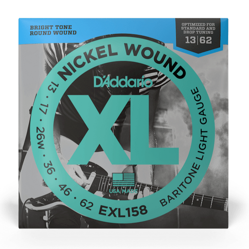 D'Addario EXL158 Set Electric Baritone Guitar XL Light Strings