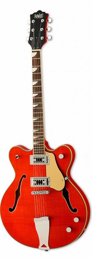 Eastwood Airline Classic 6 Semi Hollow Guitar Orange