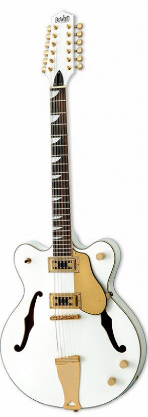 Eastwood Airline Classic 12 String Semi Hollow Guitar White