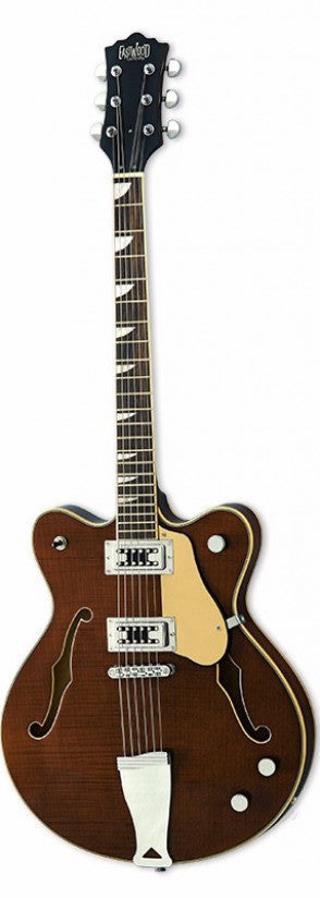 Eastwood Airline Classic 6 Semi Hollow Guitar Walnut