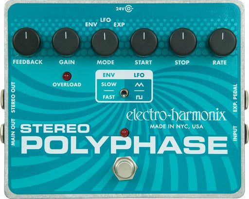 Electro Harmonix Stereo Polyphase Analog Optical Envelope/LFO Phase Shifter Guitar Pedal