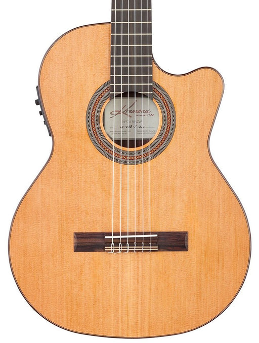 Kremona Soloist Series Fiesta F65CW Solid Cedar Top Nylon String Acoustic Electric Guitar With Bag