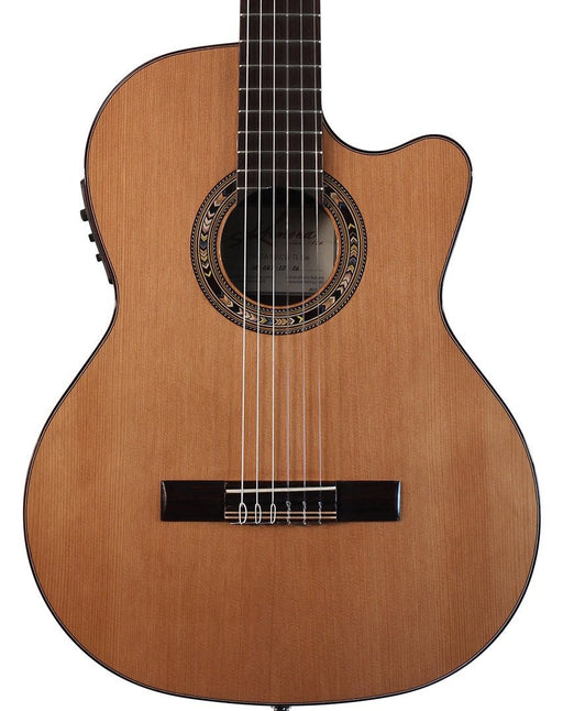 Kremona Performer Series Fiesta F65CW TLR Solid Cedar Top Nylon String Classical Acoustic Electric Guitar With Bag
