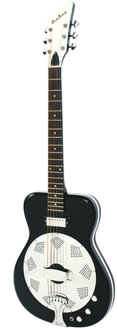Eastwood Airline Folkstar Resonator Electric Guitar Black