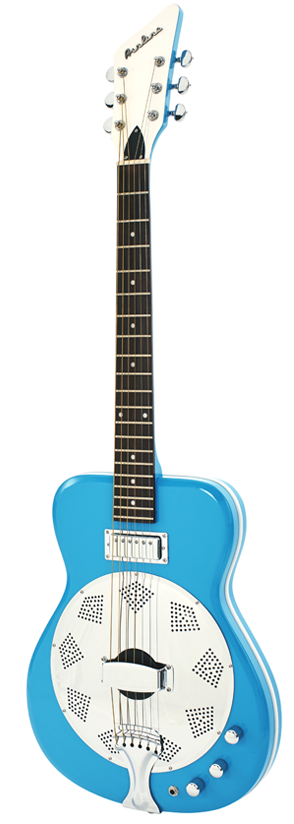 Eastwood Airline Folkstar Resonator Electric Guitar Blue