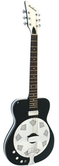 Eastwood Airline Folkstar Resonator Electric Guitar Black Left Handed