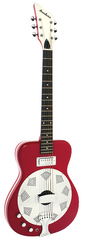 Eastwood Airline Folkstar Resonator Electric Guitar Red Left Handed