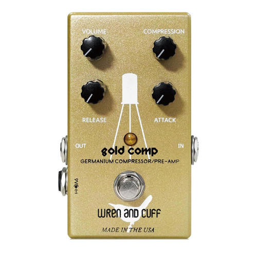 Wren and Cuff Gold Comp Compressor Guitar Effect Pedal
