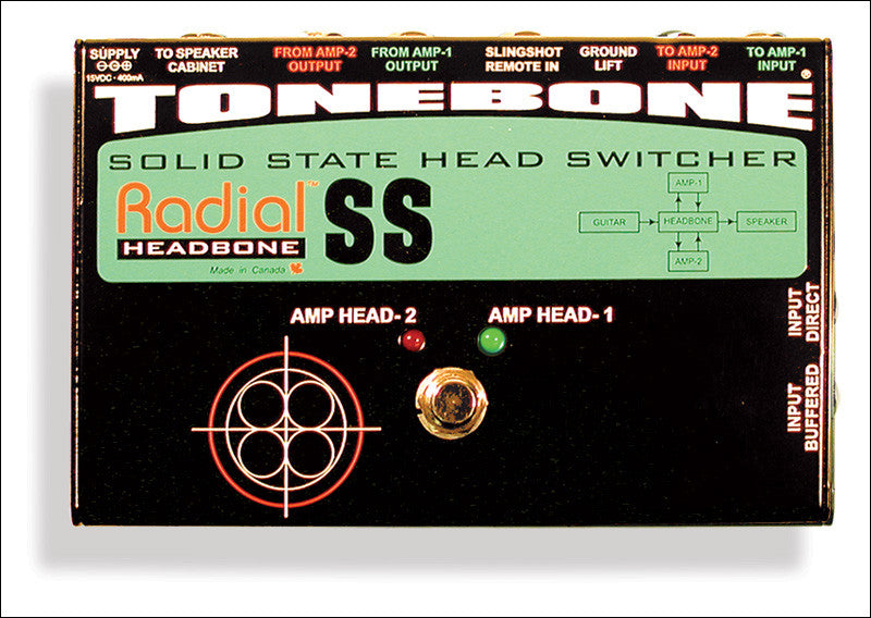 Radial Engineering Tonebone Headbone SS Solid State Head Switcher