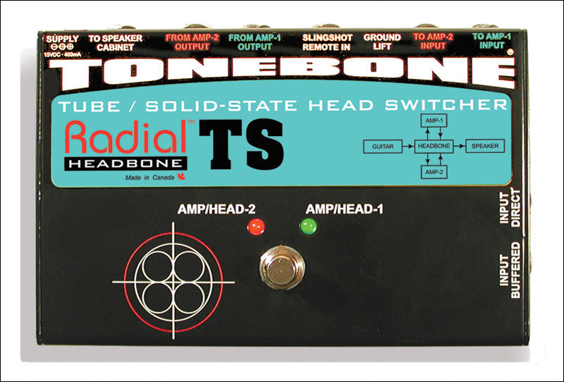 Radial Engineering Tonebone Headbone TS Tube Solid State Head Switcher