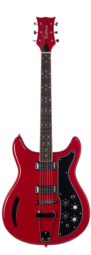 Eastwood Airline Custom K-200 Standard Chambered Guitar Red