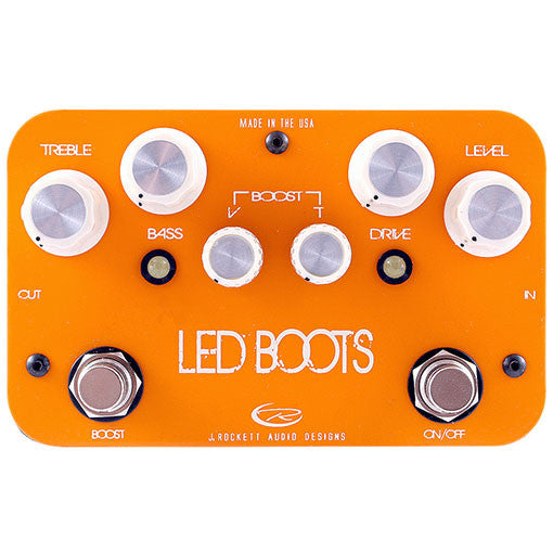 J Rockett Audio Designs Signature Series Phil Brown LED Boots Boost/Preamp Guitar Effect Pedal