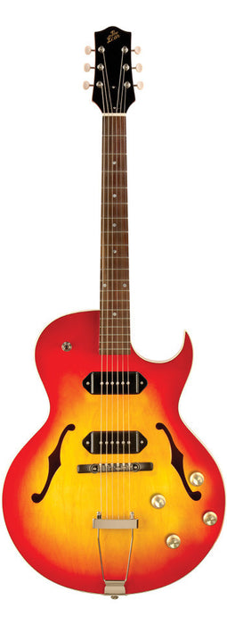 The Loar LH-302T Thinbody Archtop Cutaway Guitar Cherry Sunburst