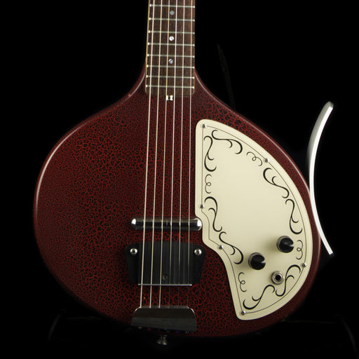 Used Jerry Jones Baby Sitar Red Gator