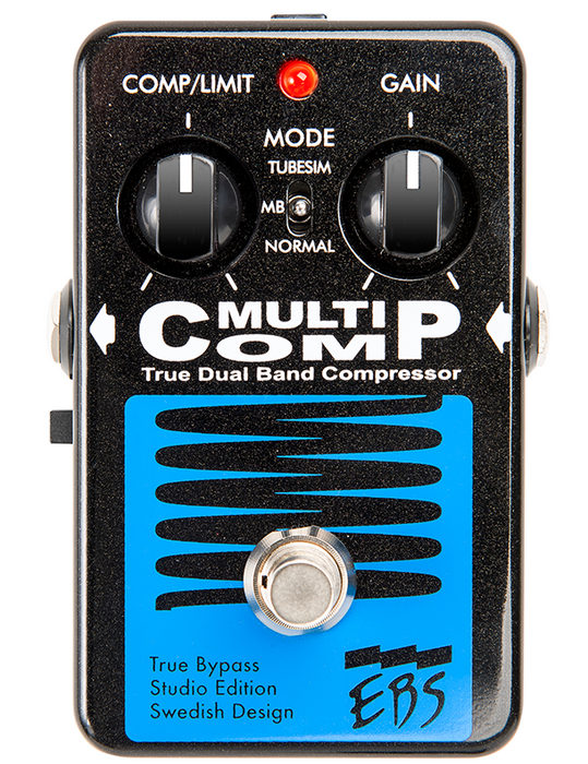 EBS MultiComp Studio Edition True Bypass Compressor Guitar Effects Pedal