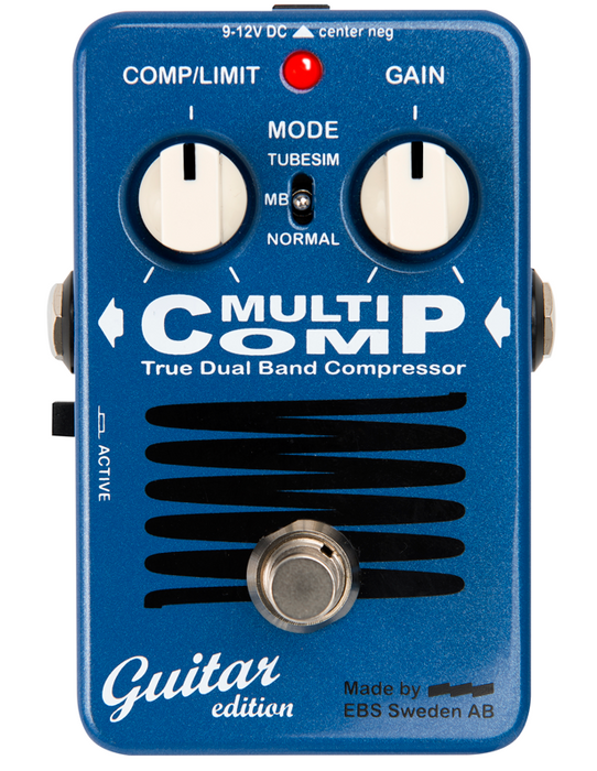 EBS MultiComp Guitar Edition True Bypass Compressor Guitar Effects Pedal