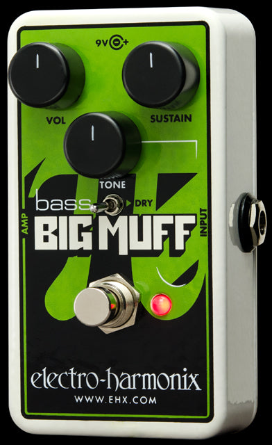 Electro-Harmonix Nano Bass Big Muff Pi Distortion/Sustainer Bass Guitar Effect Pedal