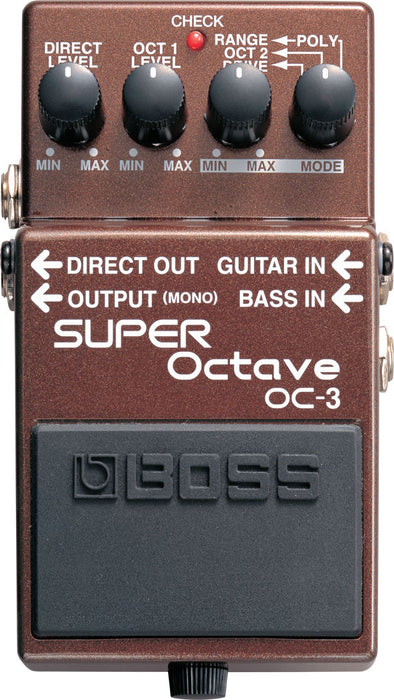 Boss OC-3 Super Octave Polyphonic Octave Guitar Effect Pedal