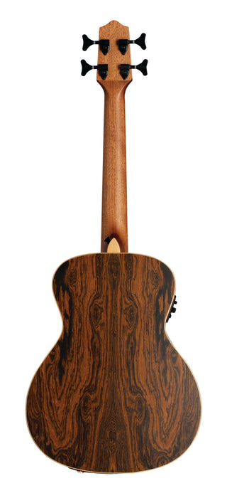 Lanikai FB-EBU Figured Bocote Bass Ukulele Electric Natural with Gig Bag