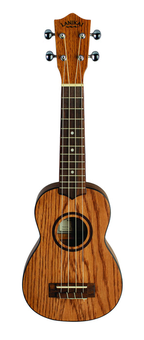 Lanikai OA-S Oak Soprano Ukulele Natural with Gig Bag