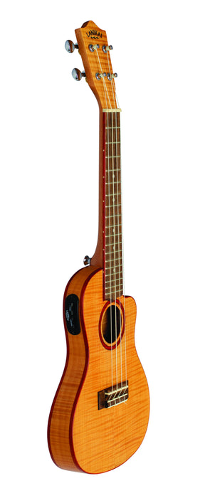 Lanikai FM-CETC Flame Maple Thin Concert Ukulele Electric Natural with Gig Bag