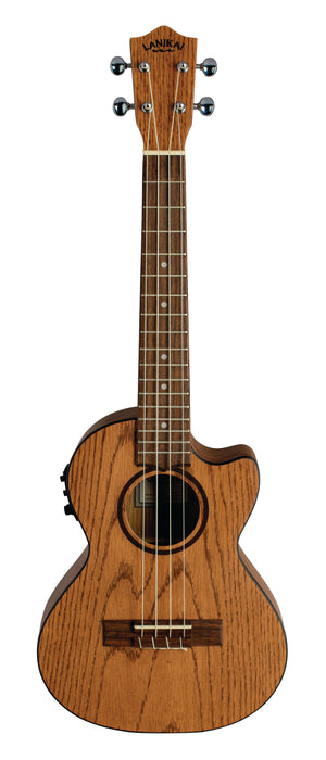 Lanikai OA-CET Oak Tenor Ukulele Electric Natural with Gig Bag