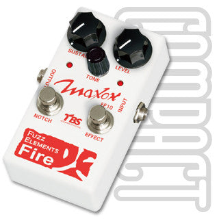 Maxon FF-10 Fuzz Elements Fire Guitar Effect Pedal