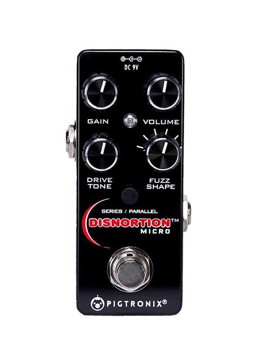 Pigtronix Disnortion Micro Analog Fuzz & Overdrive  Guitar Effect Pedal