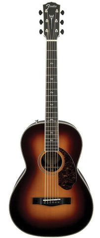 Fender PM-2 Deluxe Parlor Size Paramount Series Acoustic/Electric Guitar Sunburst