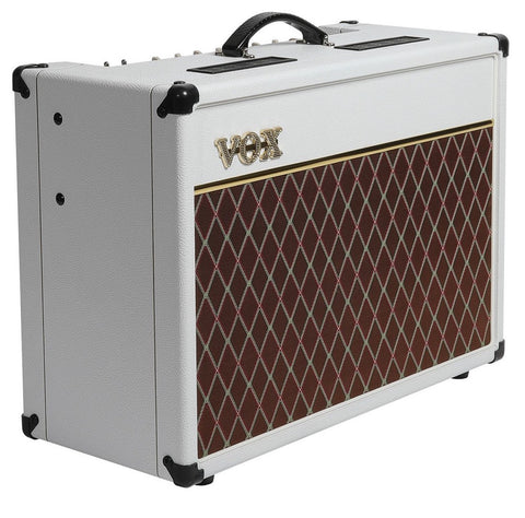 "Vox AC15C1 15-watt 1x12"" Tube Combo Amp Limited Edition White"