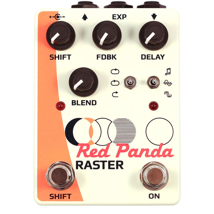 Red Panda Raster Delay and Pitch Shifter Guitar Effect Pedal