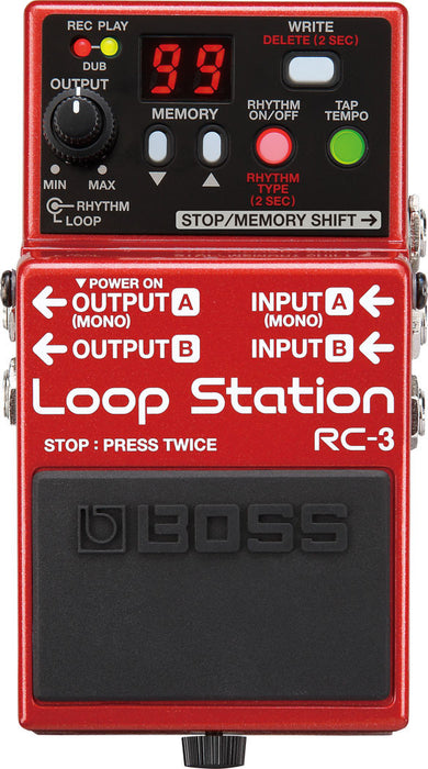 Boss RC-3 Loop Station Looper Guitar Effect Pedal