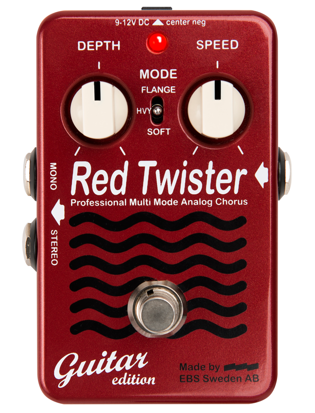 EBS Red Twister Guitar Edition Chorus + Flange Guitar Effects Pedal