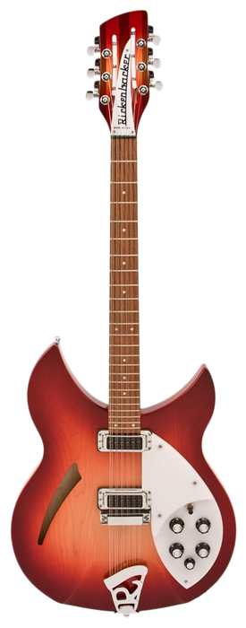 Rickenbacker 330/12 Fireglo Semi Hollow Guitar With OHSC