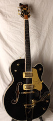 Used 2013 Gretsch Black Falcon Hollow Body Guitar With Bigsby OHSC