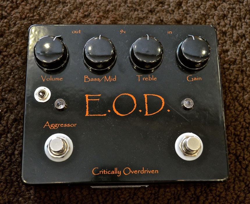 Used Critically Overdriven E.O.D. EOD Guitar Effect Pedal w/ Box
