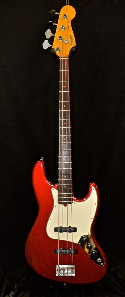Vintage 1964 Fender Jazz Bass Candy Apple Red Refinished by John Suhr