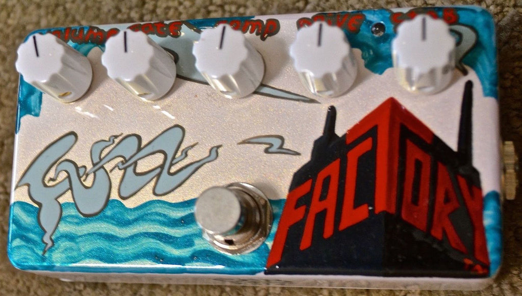 Zvex USA Made Handpainted Fuzz Factory Guitar Pedal 1of1