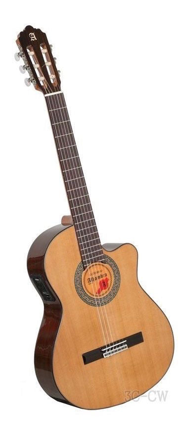 Alhambra Model 3C CW E1 Elecrtric Classical Guitar Nylon String Made In Spain