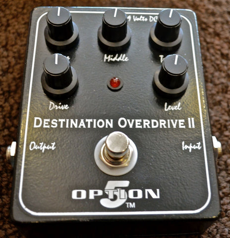 Used Option 5 Destination Overdrive II Guitar Effect Pedal with Box!